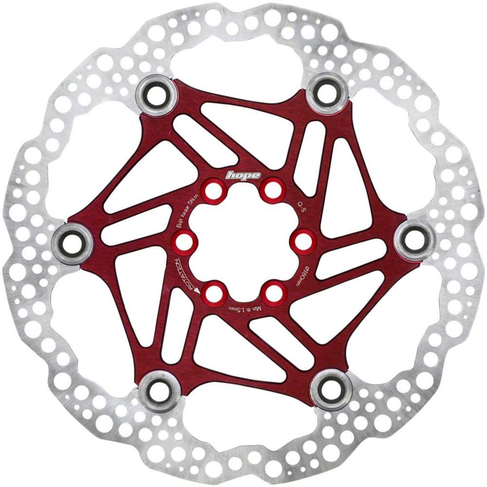 Hope Floating Disc Rotor: 180mm Red by Hope