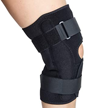 05fbd6b966 Hinged Knee Brace, Wraparound Patella Joint Support Knee Stabilizer Prevent  Hyperextension, Meniscus Tears,