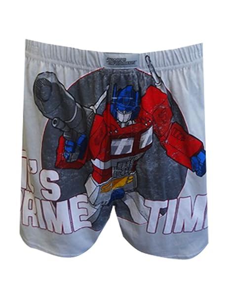Transformers de costura para ropa interior, tiempo para hombre Optimus Prime tipo bóxer