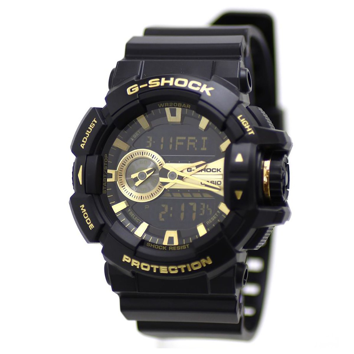 G-Shock GA-400GB Garish Series Watches - Black/Gold / One Size by Casio