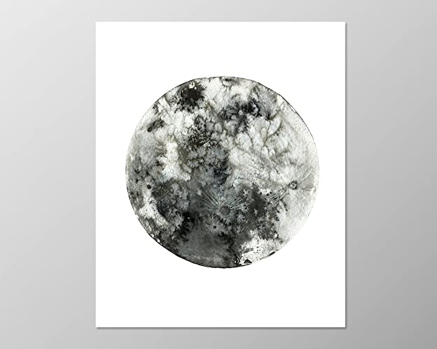Full moon poster 8x10 a089 moon art art print wall