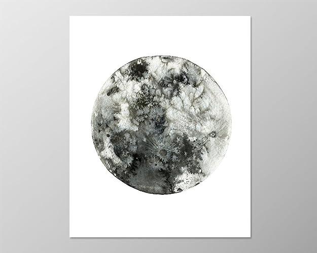 Full moon poster 8x10 a089 moon art art print wall