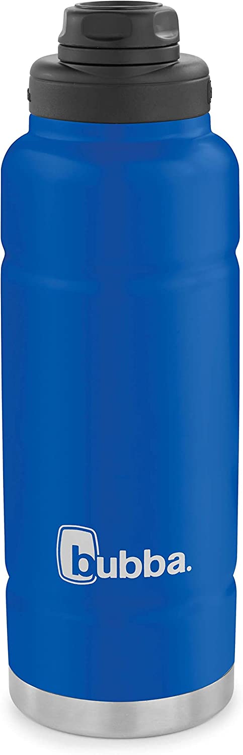 bubba Trailblazer Vacuum-Insulated Stainless Steel Water Bottle, 40 oz., Very Berry Blue