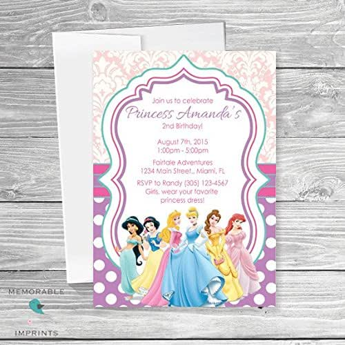 Amazon Disney Princess Birthday Invitations