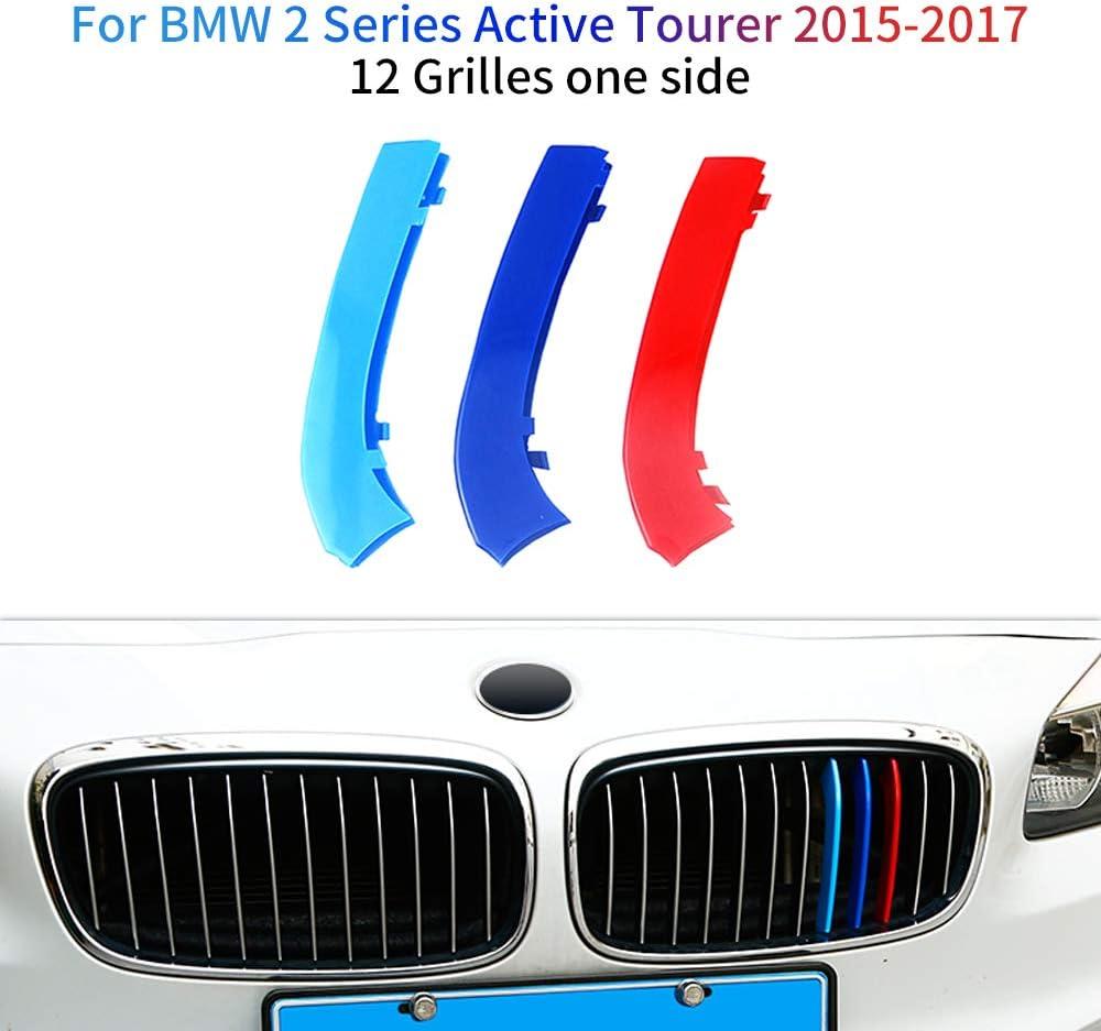 M-Couleur Avant Grille Garniture Kidney Clip Couverture Grill Autocollants pour 2 Series Active Tourer F46 218i 220i 2015-2017 3 Pi/èces 10 Grilles