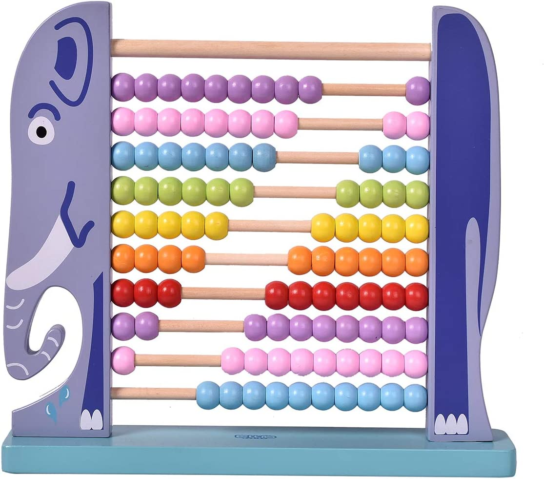 Wooden Abacus Children Kids Counting Number Maths Learning Toy Family Game New