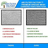 Air Filter Factory 2 Pack Compatible Replacement
