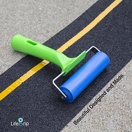 "LifeGrip Rubber Brayer Roller - 10cm/3.9"" Wide - Ideal for Car Sound Deadening, Mats, Deadener Insulation, Construction, Masonry, Stamping, Anti Slip/Skid, Wallpaper Installation"