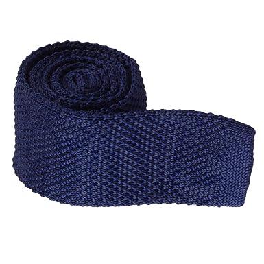 Baoblaze Corbata de Punto Delgado para Hombre Casual - Azul oscuro ...