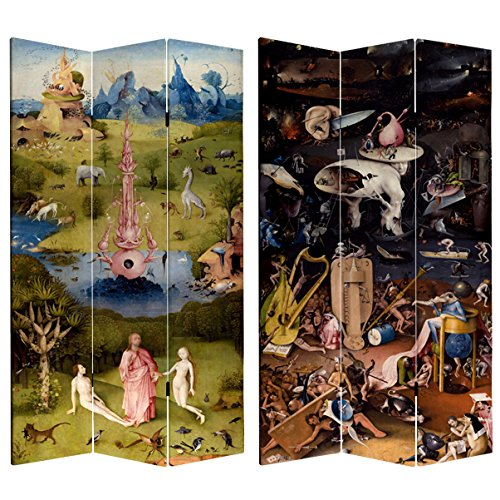 Oriental Furniture Double Sided Garden of Delights Canvas Room Divider - 7 ft. Tall from ORIENTAL Furniture