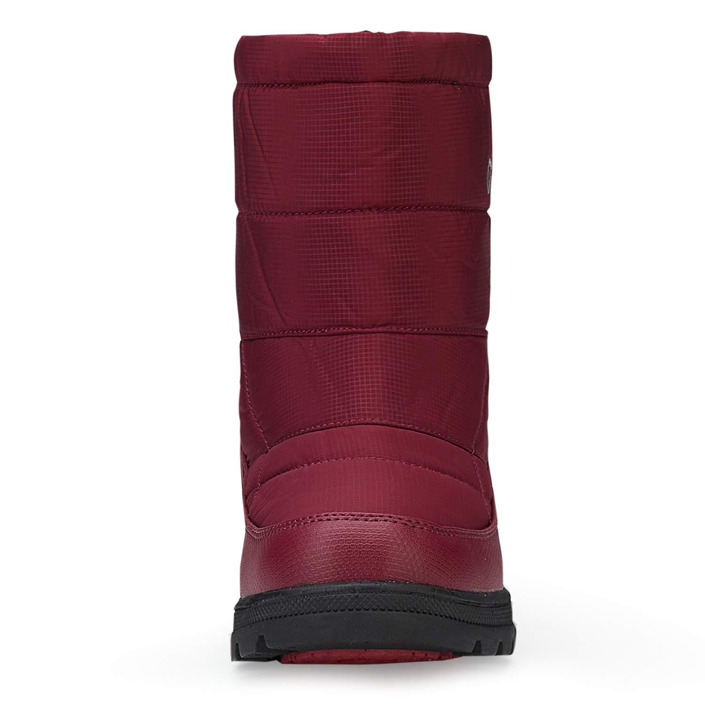 XPKWS Snow Boots Mens Womens Winter Warm Boots Fur Outdoor Waterproof Lightweight Mid Calf Shoes