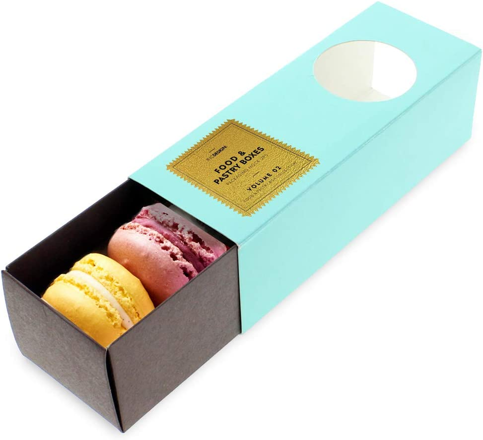 Kraft Treat Box Bags Biscuits Macaroons Sweets Favours