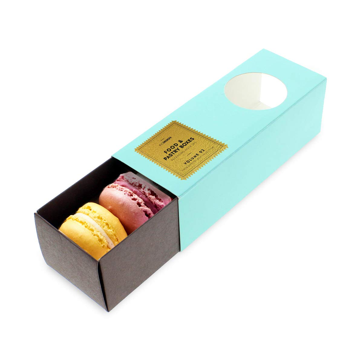 Linen and Bags Robin Blue Macaron Cookie Box Pack of 20 Bakery Treat Boxes for Gift Giving, Pastry Boxes, Party Favor Box, Chocolate Dessert Treat Packaging with Clear Window