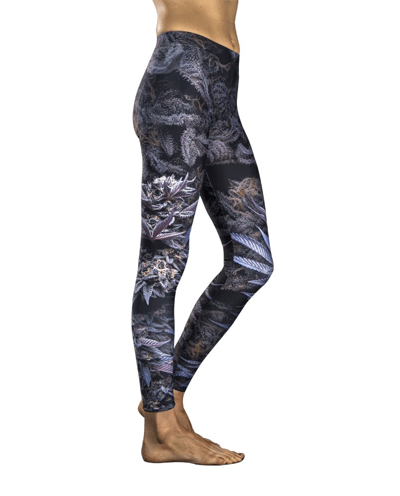 Kindstems Violet Flame Cannabis Leggings for The Elegant and Discreet