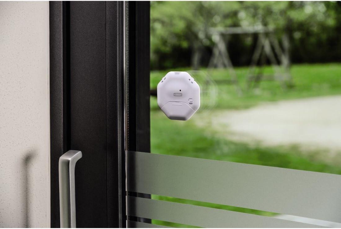 Xavax - Alarma de Rotura de Cristal para Ventanas o Puertas de Cristal con Sensor de sacudidas, diseño Plano (Ideal para Puertas correderas): Amazon.es: Bricolaje y herramientas