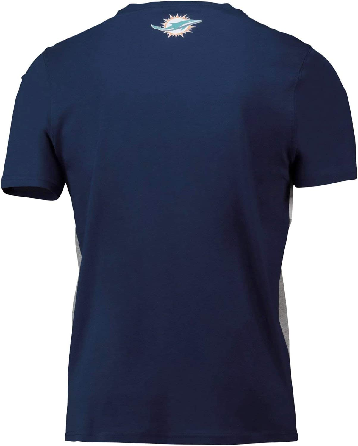 NFL Miami Dolphins Cut And Sew T Shirt Navy Mens Fanatics Branded.