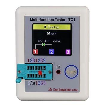 Kineca TFT Transistor probador Metro de la capacitancia LCR ESR NPN PNP Detector de capacitores del Inspector de Carga USB LCR-TC1: Amazon.es: Electrónica