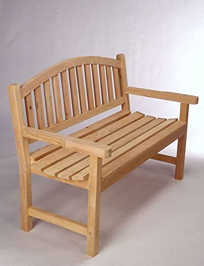 Amazon.com : Tidewater Workshop American Made 4u0027 Monet Bench : Patio Dining  Tables : Garden U0026 Outdoor