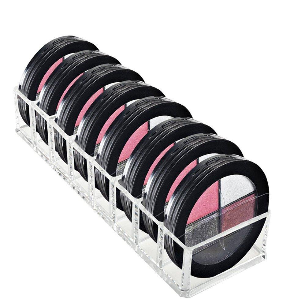 FLYMEI Acrylic Makeup Organizer, 8 Spaces Drawer Organizer for Lipstickers, Blushes, Eyeshadow, 10 X 3.5 X 2 Makeup Organizers and Storage