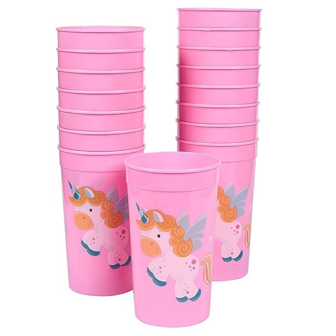 Amazon.com: Vasos de plástico para fiesta, variado., Unicorn ...