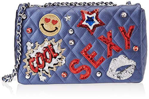 Tua by Braccialini Patch, Women's Shoulder Bag, Blu, 8x19.5x29 cm (W x H (Braccialini Women Handbags)