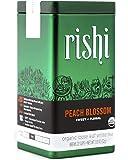 Rishi Tea Peach Blossom Loose Leaf Herbal Tea Blend   Immune System & Heart Health Support, USDA Certified Organic White…