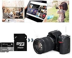 CTAWAS 1TB Micro Memory Card 1024GB Micro SD Card Class 10 with Free SD Adapter