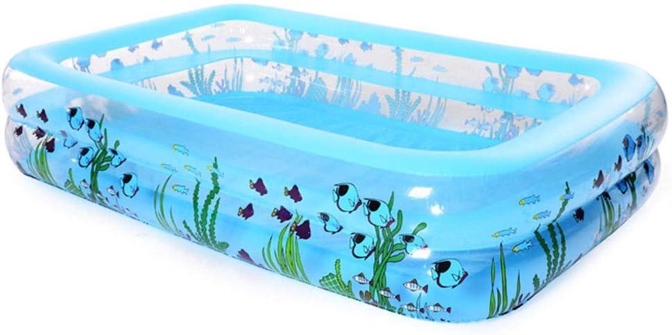 HEROTIGH Piscinas Hinchables Piscina Grande De Dos Anillos para Una Gran Familia 262X175X51Cm Inflatable Pool
