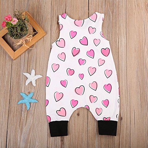 ITFABS Newborn Baby Boy Girl Jumpsuit Heart Pattern Leggings Romper Outfits
