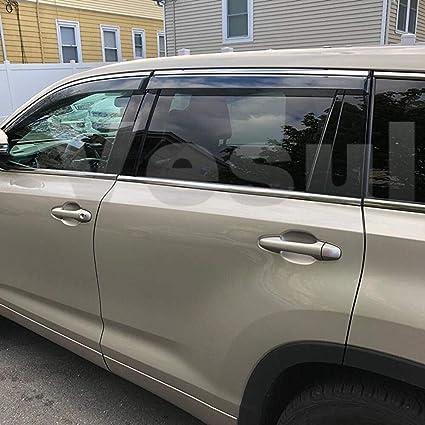 USA Smoke Side Window Vent Visors Rain Guards 4Pcs Set for Toyota Corolla 14-18
