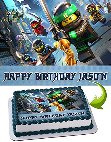 LEGO NINJAGO Edible Cake Topper Personalized Icing Sugar Paper A4 Sheet Birthday party Cake Decoration Edible Image
