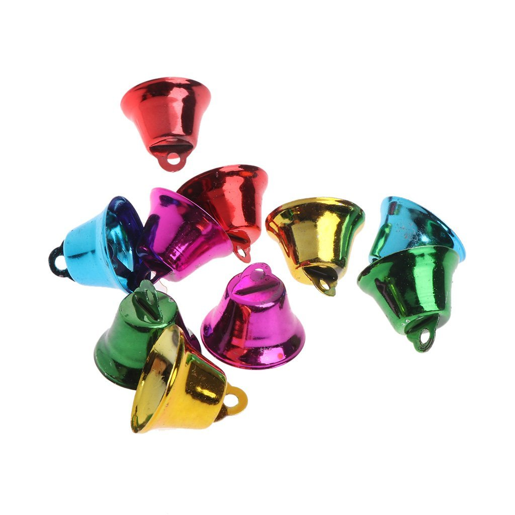 10PCS Multi-Color Pet Bird Bells Wind Chimes For Parrot Toy DIY Stainless Steel Premium Quality by Yevison
