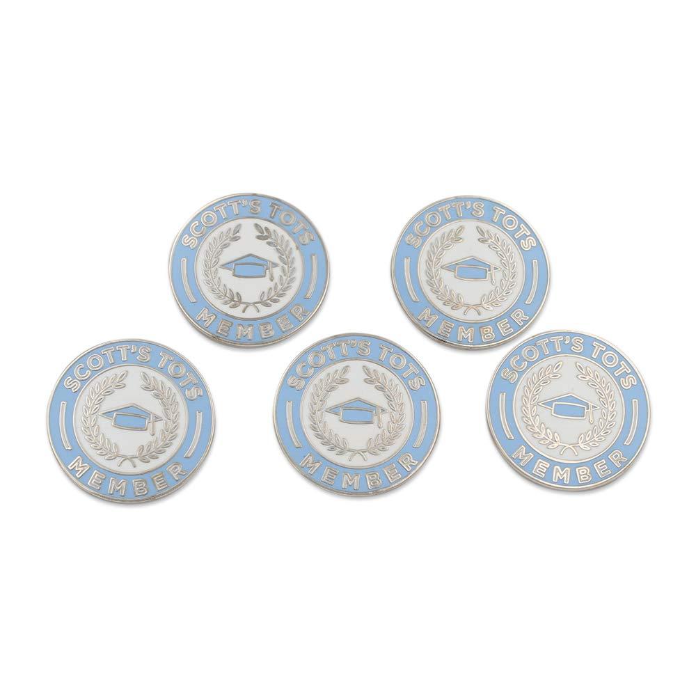 WIZARDPINS Scott's Tots Membership Enamel Lapel Pin– 5 Silver Pins