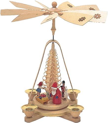 Alexander Taron Importer 1667 Richard Glaesser Pyramid-Santa and Toys-10.5 H W x 9.25 , Brown