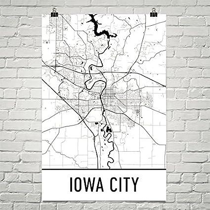 Map Of Iowa City Amazon.com: Iowa City Poster, Iowa City Art Print, Iowa City Wall