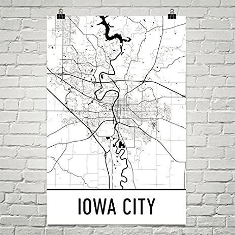 Amazoncom Iowa City Poster Iowa City Art Print Iowa City Wall