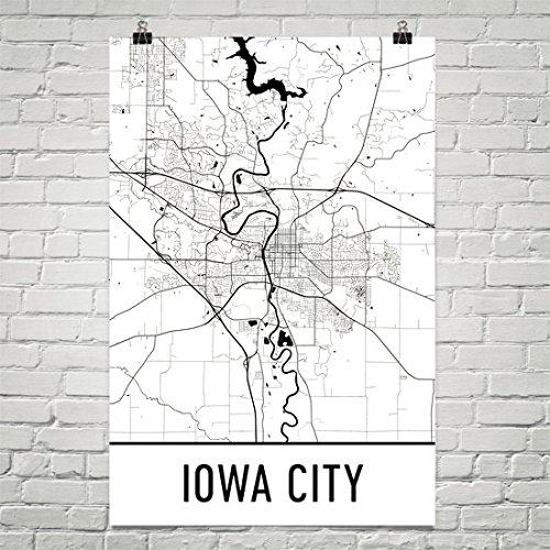 graphic regarding Printable Map of Iowa known as : Iowa Town Poster, Iowa Town Artwork Print, Iowa Metropolis