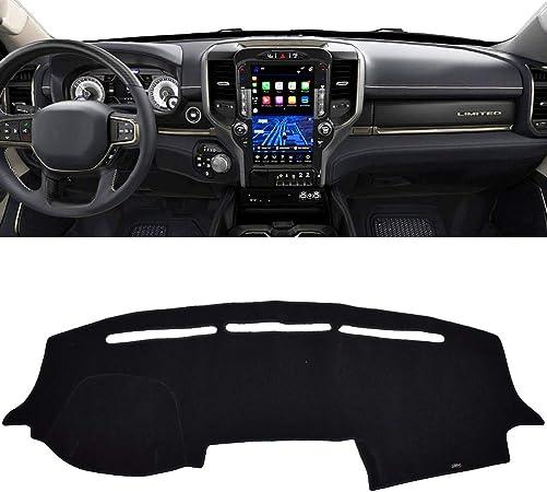 Black Dashmat 71840-00-25 VelourMat Dashboard Cover for Dodge RAM