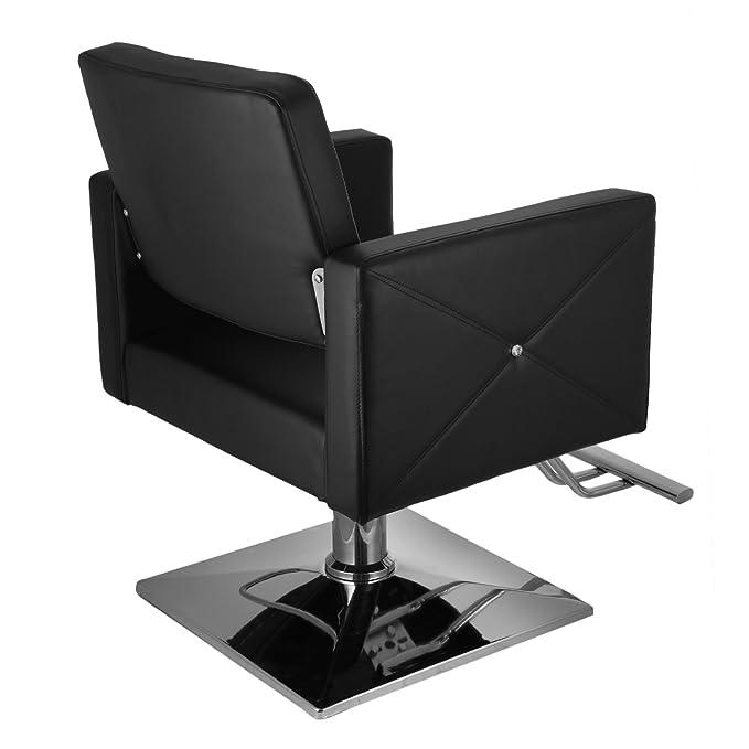 Cueffer Sillas de Barbero 150kg Silla de Peluquería Hidráulica PU Cuero Silla de Peluquería Hydraulic Barber Chair para SPA Belleza