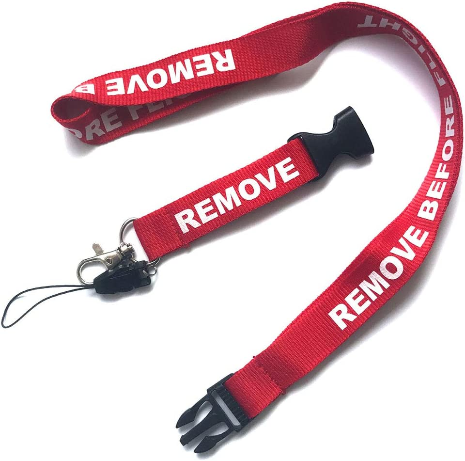 CloudBehind/® Pack of 4 Office Neck Lanyard USB iPod Lanyards for Phones Keychain Remove Before Flight Neck Straps with Buckle Detachable Quick Release Key ID Card 21.6
