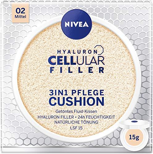 NIVEA 3in1 Anti-Age Pflege Kissen für natürliche Tönung und Feuchtigkeit, Für Mittlere Hauttypen, 15 g, 02 Mittel