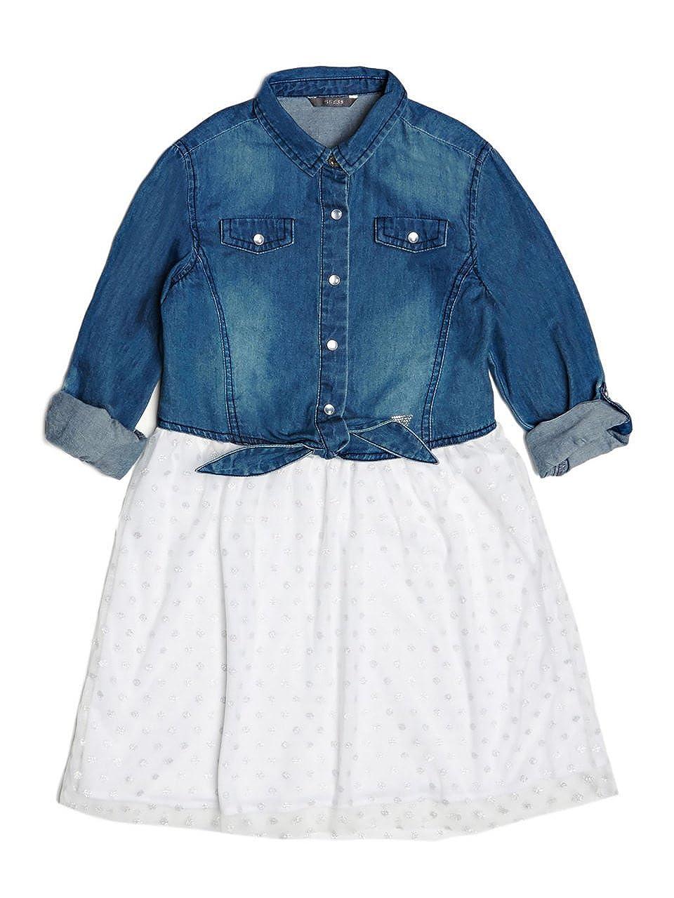 GUESS Chambray Two-Fer Dress (7-14)