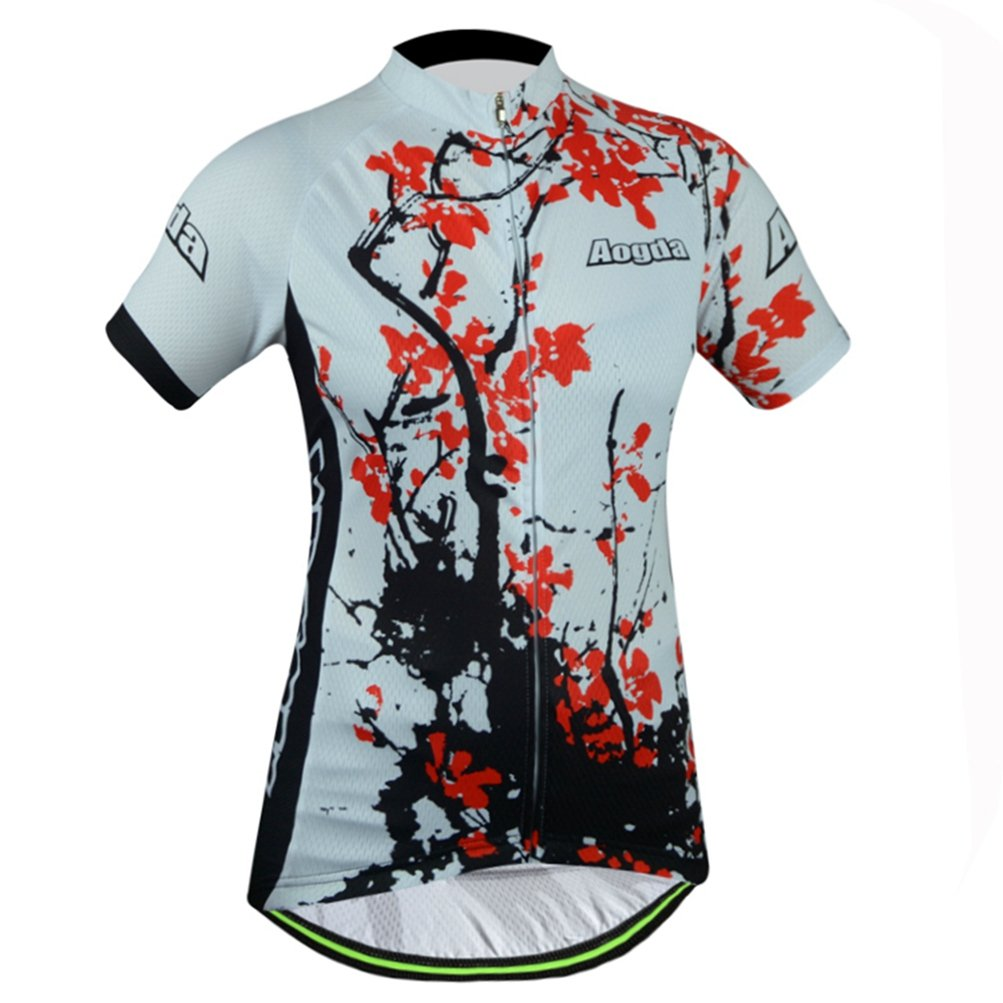 Uriah Women's Cycling Jersey Polyester Short Sleeve Plum Blossom Size XXL by Uriah