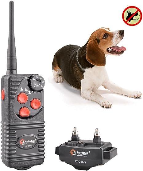 Aetertek 216D 2 Dogs Shock Collar Electric Remote Trainer Bark Stop Waterproof