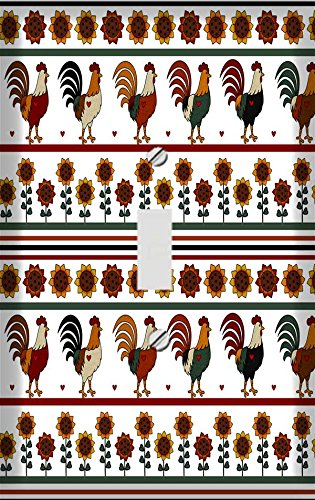 Country Roosters Decorative Switchplate Cover (Rooster Switchplate)