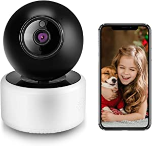 Security Camera Indoor Wireless 1080P HD WiFi Pet Camera, Home Camera for Dog/Nanny/Elder/Baby Monitor, Surveillance IP Camera with Smart Night Vision/2 Way Audio/Motion Detection
