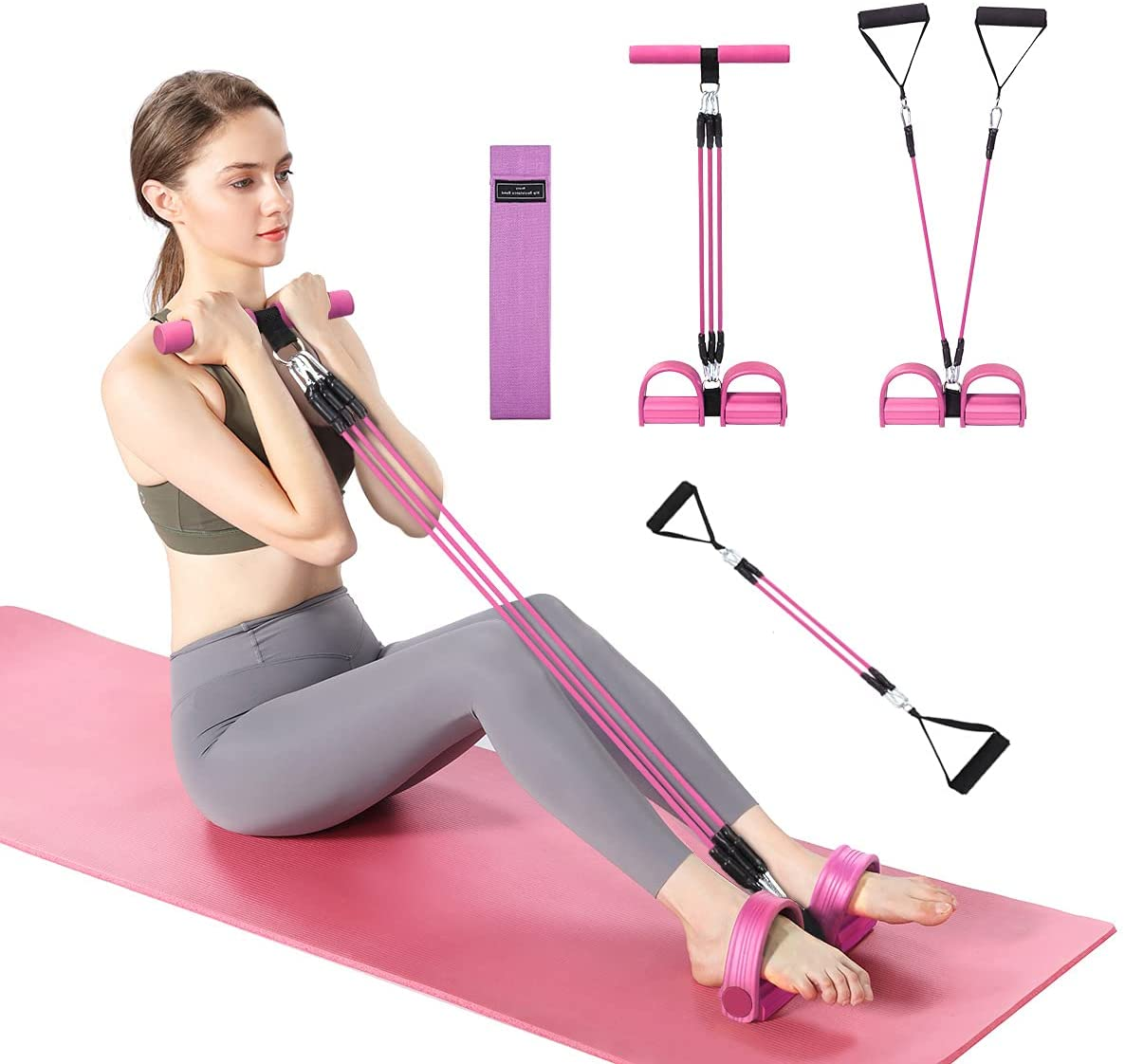 Burn Excess Fat, Arm Exercise Equipment, Hip Anti-Skid Resistance Bands Workout, Pedal Resistance Band, Abdominal Exercise Equipment, Tensile Exercise Bands, Exercise Equipment for Home Workouts