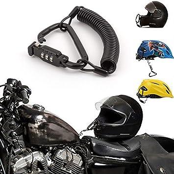 Candado para casco de motocicleta, combinación de pines, cierre de mosquetón, seguro para