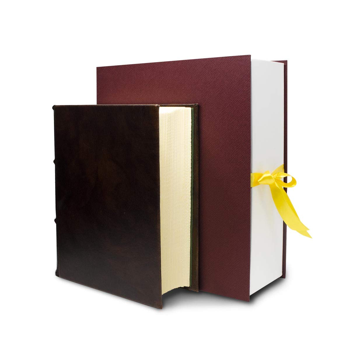WORLD'S THICKEST JOURNAL with over 1000 Hand-Cut archival writing/drawing pages. Handmade in Premium Italian Leather. 8x10in | Epica