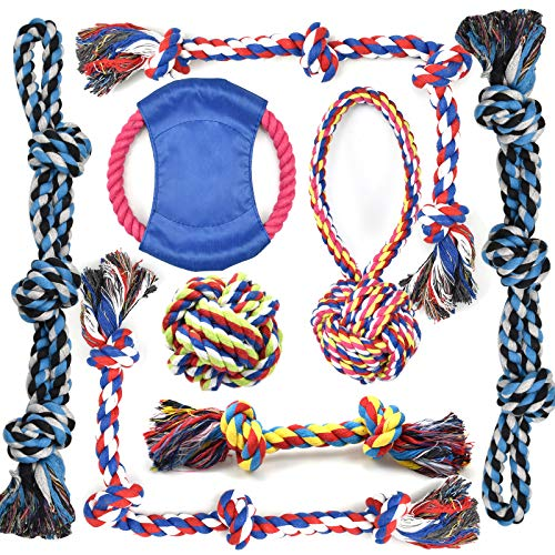 Rope Dog Toys for Aggressive Chewers Large Breed Medium Breed, Small Dog Puppy Teething Chew Toys Heavy Duty Dental Dog…